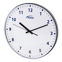 12 H Battery Operated Wall Clock OP237 | Nassau Supply